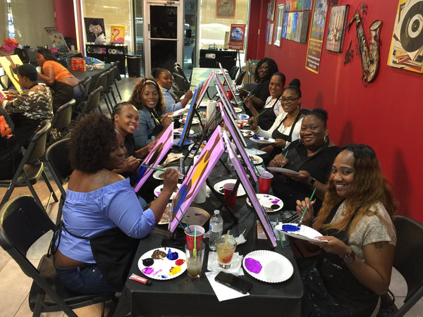 "Fri Sept 7, 2018, 7-10pm ""Short Shorts"" Public Tulsa OK Paint, Wine, & Canvas Class"