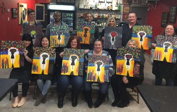"Fri, Feb 22, 2019, 7-10pm ""Night Princess"" Public Tulsa OK Paint, Wine, & Canvas Class"