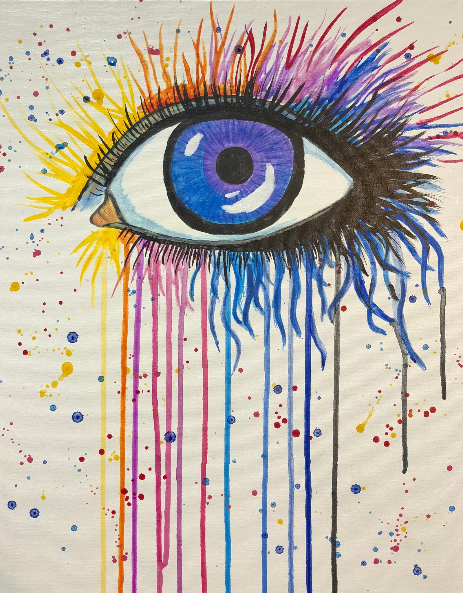 "Fri, May 4, 2018, 7-10pm ""Seeing in Color"" Public Tulsa OK Paint, Wine, & Canvas Class"