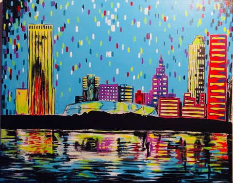 "Fri, Mar 1, 2019, 7-10pm ""Tulsa Skyline"" Public Tulsa OK Paint, Wine, & Canvas Class"
