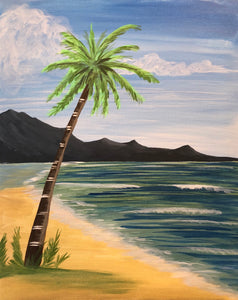 "Fri, Jul 20, 2018, 7-10pm ""Palm Beach"" Public Tulsa OK Paint, Wine, & Canvas Class"