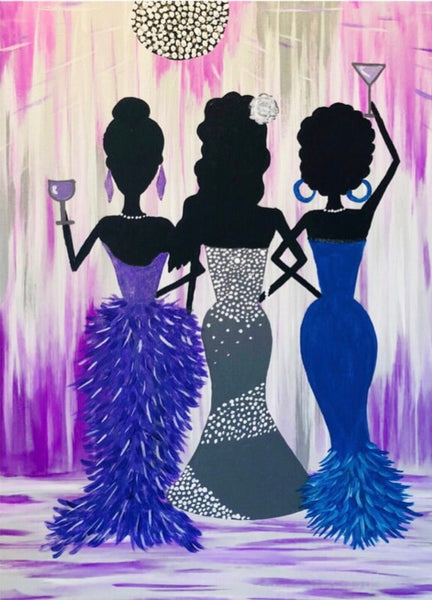 "Fri Apr 12, 2019, 7-10pm ""Ladies' Night Out"" Public Tulsa OK Paint, Wine, & Canvas Class"