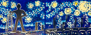 "Sat, Feb 17, 2018, 7-10pm ""Starry Night over T-Town Date Night"" Public Tulsa OK Paint, Wine, & Canvas Class"