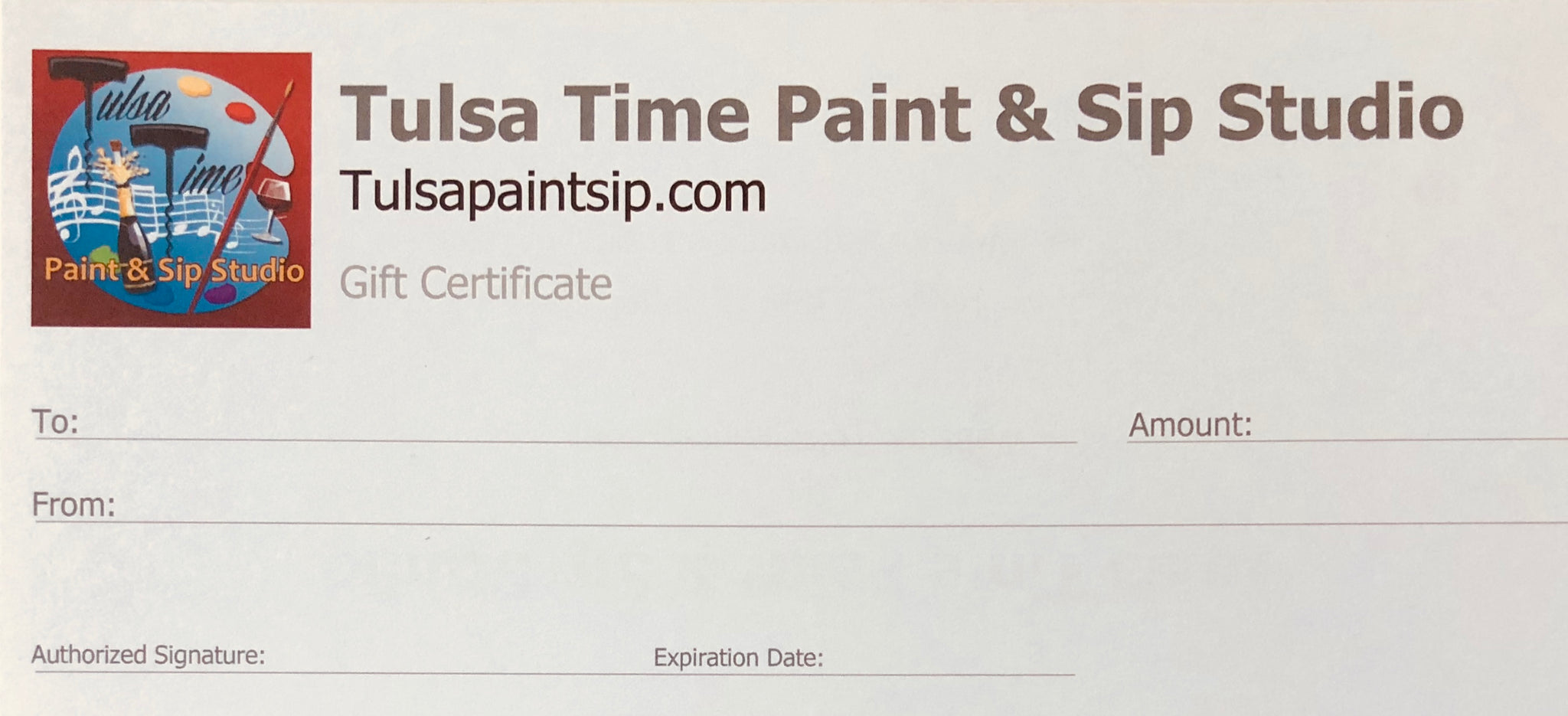 Gift Certificate for Paint & Sip Class