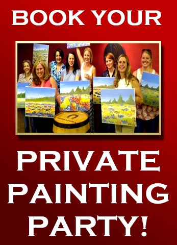 Private Party Choose your Date and Time. Tulsa OK Paint, Wine, & Canvas Class