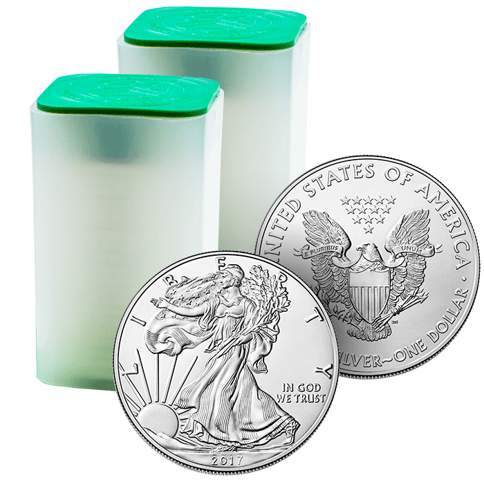 2017 1 oz American Silver Eagle - Mint Roll Of 20 Coins
