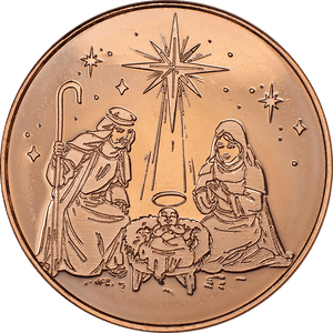 Nativity 1 oz Copper Round