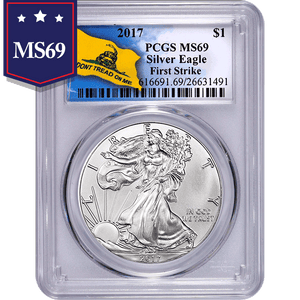 2017 Don't Tread On Me 1 oz American Silver Eagle NGC MS69