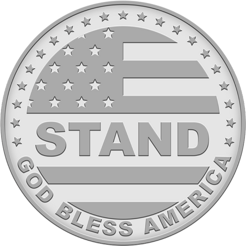 Stand 1 oz Silver Round (.999 Pure)
