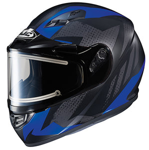 HJC Snow CS-R3 Treague Blue Black Electric Shield Snowmobile Helmet Medium