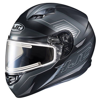 HJC CS-R3 Trion Electric Face Shield Snowmobile Riding Helmet Matte Grey Small