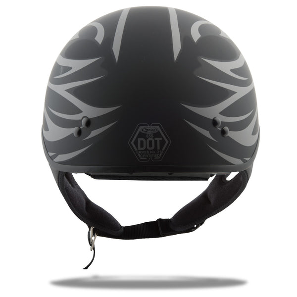 Gmax GM-65 Grit Cruiser Street Motorcycle Riding Half Helmet Flat Black Small