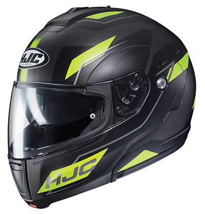 HJC CL-Max 3 Flow Modular Full Face DOT Motorcycle Helmet Hi-Vis Black X-Large
