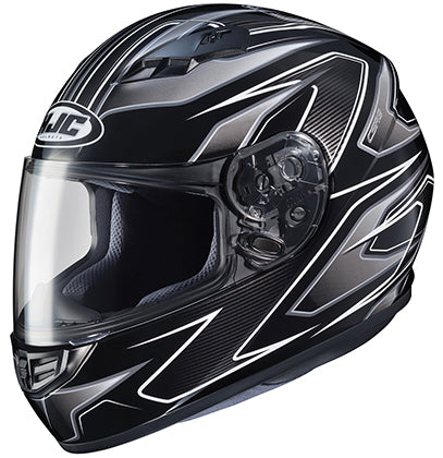 HJC CS-R3 Spike Black Silver Full Face Street Motorcycle Riding Helmet X-Large