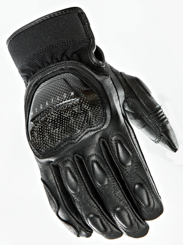 Joe Rocket Speedway Black Leather Hard Knuckle Motorcycle Riding Glove Large