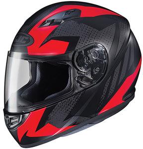 HJC CS-R3 Treague Full Face Street Motorcycle Riding Helmet Black Red Medium