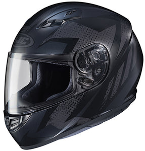 HJC CS-R3 Treague Full Face Street Motorcycle Helmet Matte Black Grey X-Large