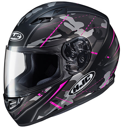 HJC Ladies CS-R3 Songtan Street Motorcycle Riding Helmet Flat Black Pink X-Large