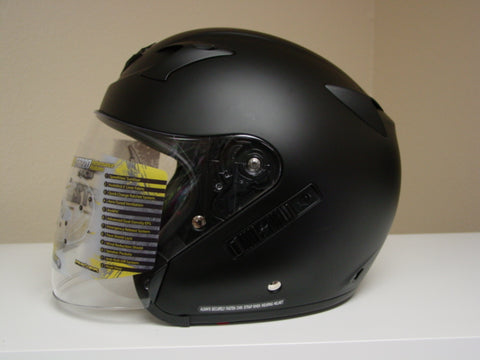 Scorpion EXO-CT220 Matte Black Open Face Motorcycle Helmet Large - Display Model
