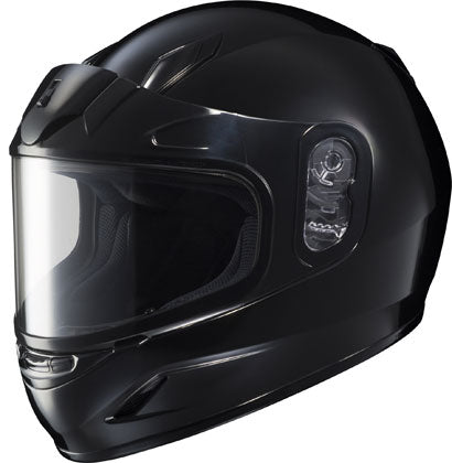 HJC CL-Y Dual Lens Gloss Black Full Face Snowmobile Riding Helmet Youth Large
