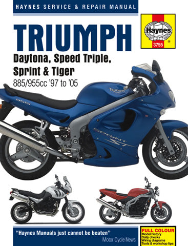 Haynes 1997-2005 Daytona Speed Triple Sprint Tiger 885 955 Service Shop Manual