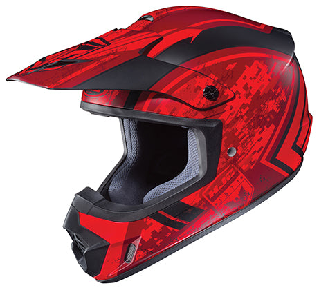 HJC Adult CS-MX II Squad Matte Red Black Offroad Motorcycle Riding Helmet Small