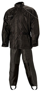 Nelson Rigg AS-3000 Aston Black 2-PC Motorcycle Rain Jacket & Pant Suit 3X-Large