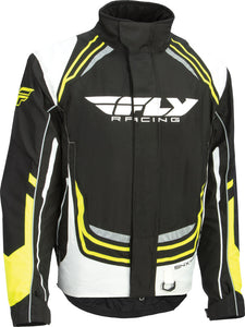Fly Mens SNX Pro Waterproof Insulated Snowmobile Snow Jacket Black White X-Small