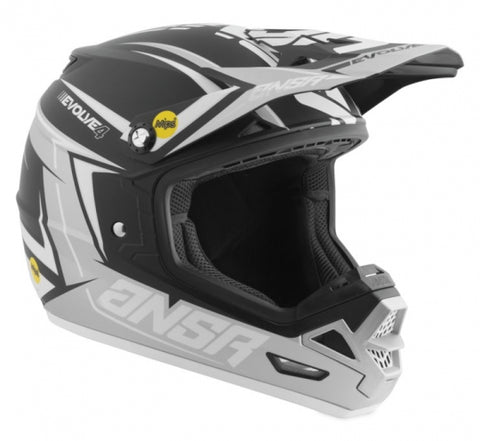 Answer Evolve 4.0 MIPS MX Motocross Offroad Riding Helmet Black Silver Large