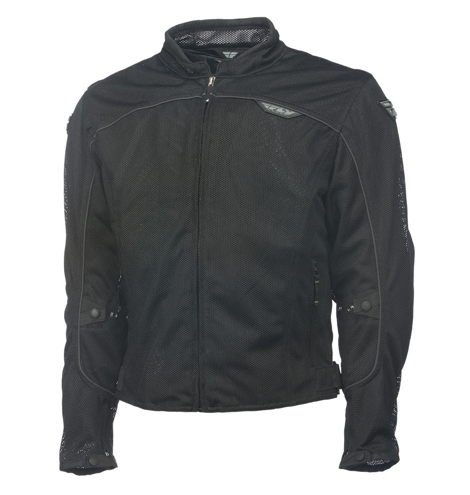 Fly Racing Flux Air Mesh Summer Street Motorcycle Riding Jacket Black 3X-Large