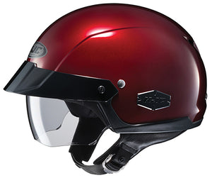 HJC IS-Cruiser Wine Red Street Cruiser Motorcycle Half Helmet w/Sun Visor Medium