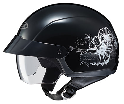 HJC IS-Cruiser Ladies Blush Motorcycle Riding Touring Half Helmet Black Large