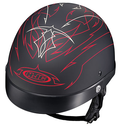 HJC CL-Ironroad Showboat Motorcycle Riding Touring Half Helmet Flat Red Medium