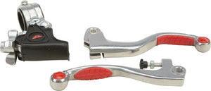 Fly Honda CR XR Suzuki RM Easy Pull Pro Lever Kit w/ Red Grip - Open Package