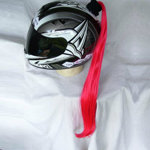 Ladies & Girl's Helmet Ponytail - Red