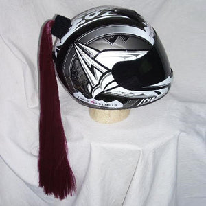 Ladies & Girl's Helmet Ponytail - Wine Red