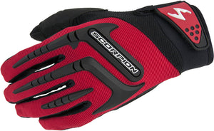 Scorpion Skrub Lightweight Textile Street Motorcycle Riding Gloves Red Small