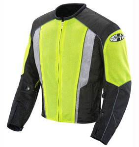 Joe Rocket Phoenix 5.0 Men's Mesh Motorcycle Riding Jacket Black Hi-Vis X-Large