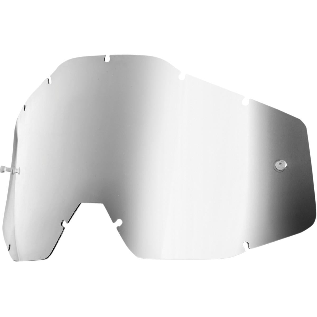100% Youth Kid's Accuri & Strata MX Offroad Goggle Replacement Lens Silver Mirror