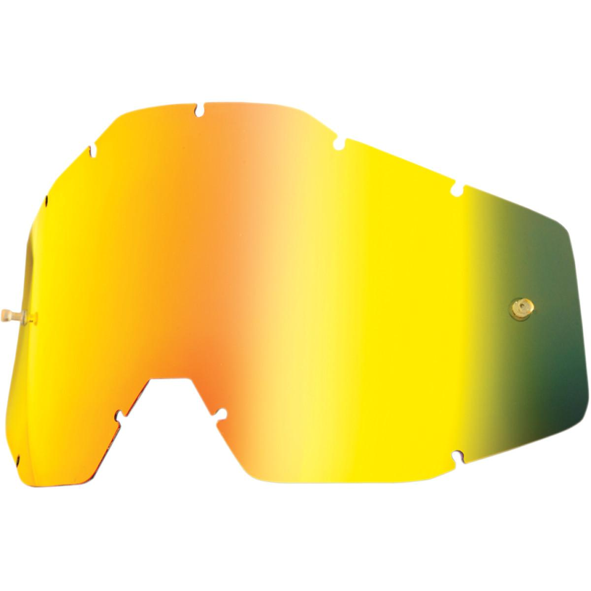 100% Youth Kids Accuri & Strata MX Offroad Goggle Replacement Lens Gold Mirror