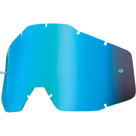 100% Youth Kid's Accuri & Strata MX Offroad Goggle Replacement Lens Blue Mirror