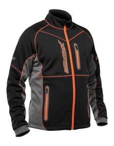 Castle X Fusion SE Fleece Cold Weather Mid-Layer Jacket Black Orange X-Large