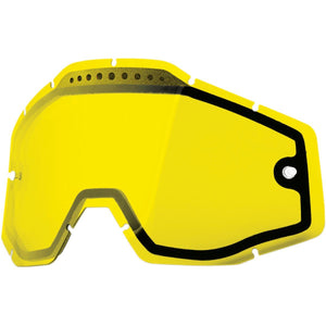 100% Dual Goggle Lens Yellow
