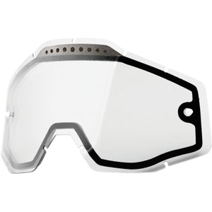 100% Dual Goggle Lens Clear