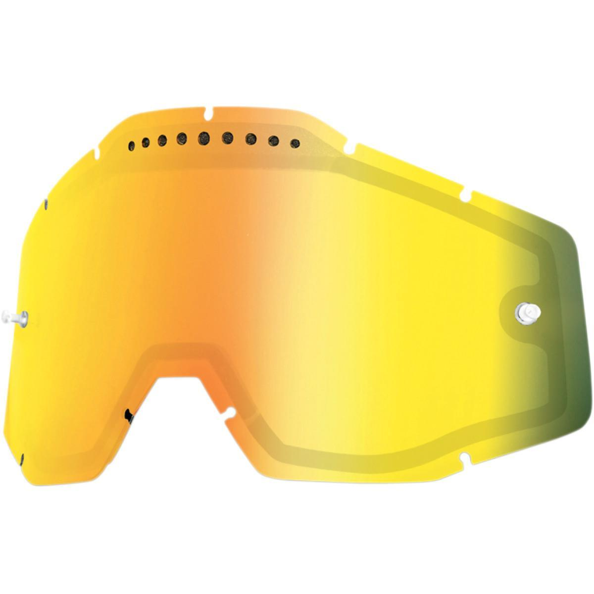 100% Dual Goggle Lens Gold Mirror