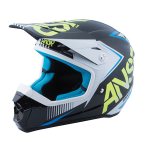 Answer Kids SNX 2 White Black Motocross Offroad Dirt Riding Helmet Youth Medium