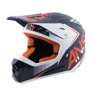 Answer Kids SNX 2 White Orange Motocross Offroad Dirt Riding Helmet Youth Medium