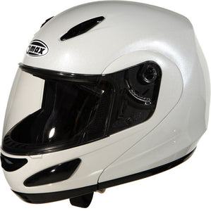 GMAX GM44 Modular Flip Up Full Face Street Motorcycle Helmet Pearl White X-Small