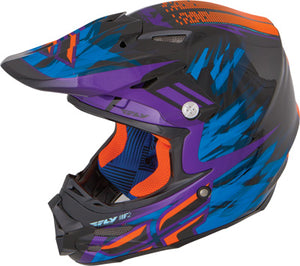 Fly Racing F2 Carbon Andrew Short Purple Orange Offroad Motocross Helmet X-Large