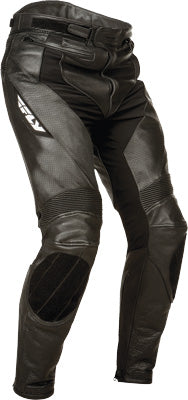Fly Street Apex Black Leather Motorcycle Riding Pant w/ CE Armor Men's Size 36